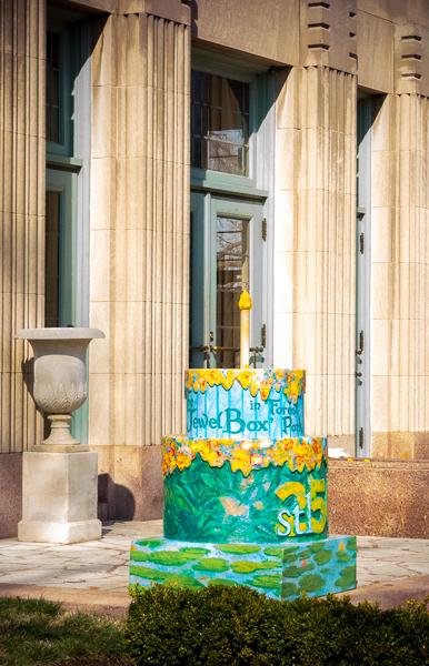 St. Louis 250th Birthday Cake at the Jewel Box