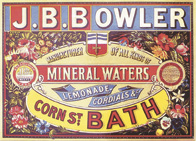 J.B. Bowler Mineral Water sign