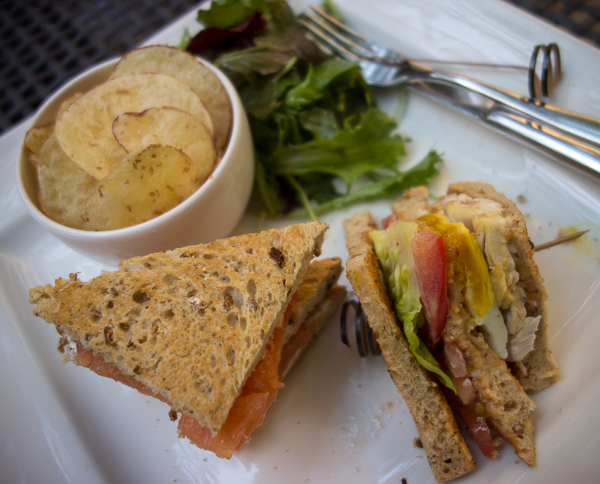 Sandwiches at Queensberry Hotel, Bath, UK