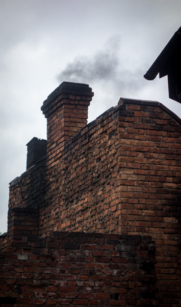 Chimney with black smoke