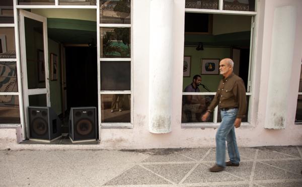 Cienfuegos Cuba store-front DJ
