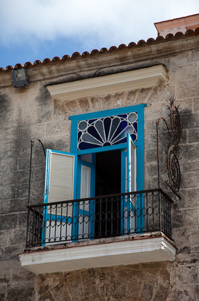 Balcony, Plaza de la Catedral, Havana, Cuba