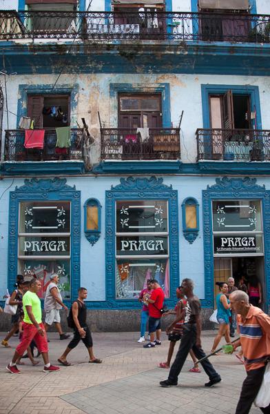 Shoppers in Havana, Cuba