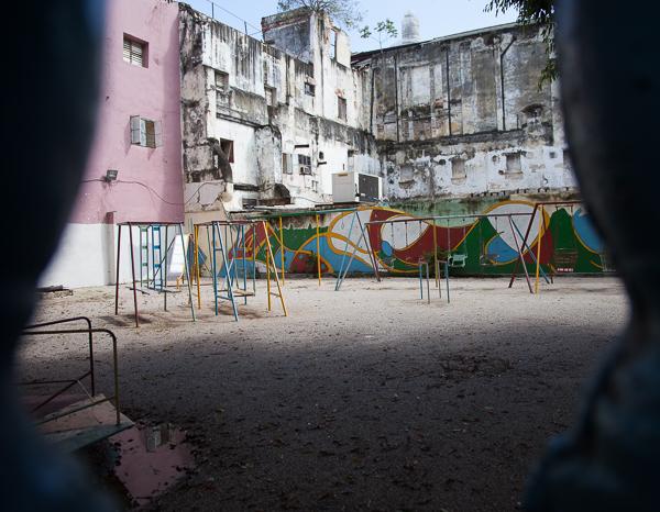 Empty playground, Havana, Cuba