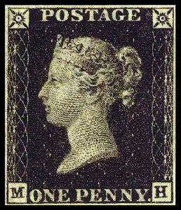 Penny Black from 1840