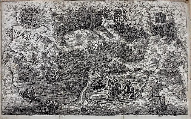Robinson Crusoe island map