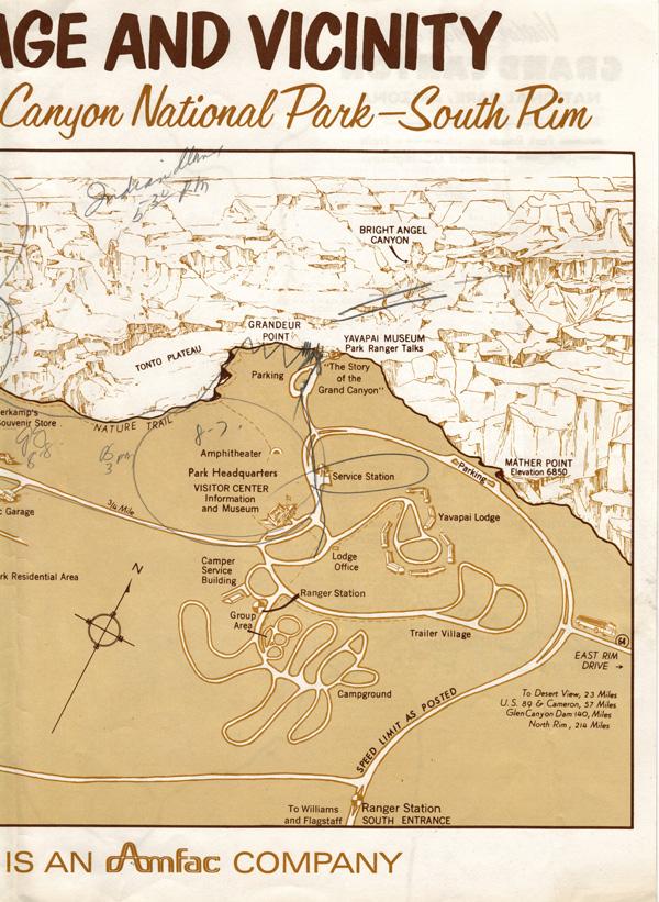 Grand Canyon Map -- right half