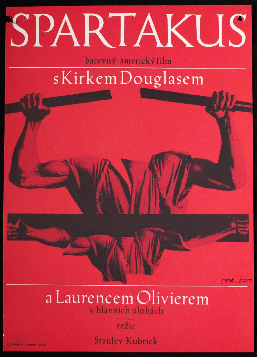 Movie Poster Spartacus 60s Artwork Zdenk Ziegler