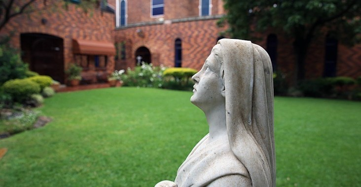 Virgin Mary in garden