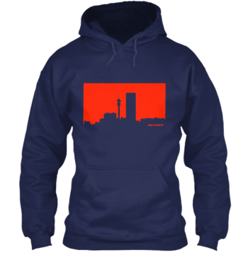 Hoodie Jozi Streets Navy-Neon Red