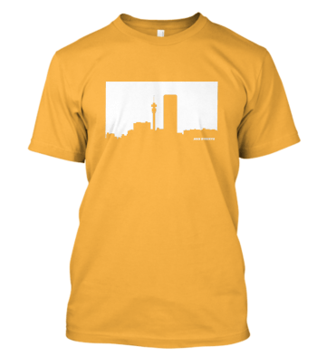 Jozi Streets T-shirt in Yellow-White