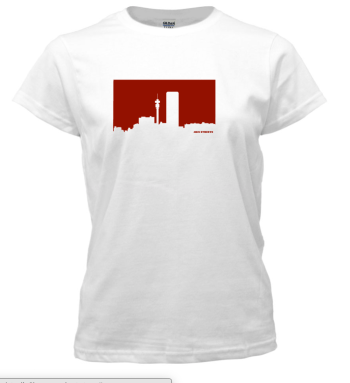 Jozi Streets Ladies T-Shirt White - Red