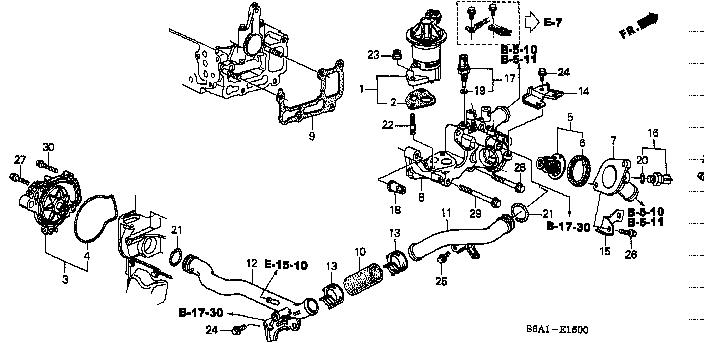 19411-PLC-003 / 19411PLC003 / GASKET , FRONT WATER PASSAGE