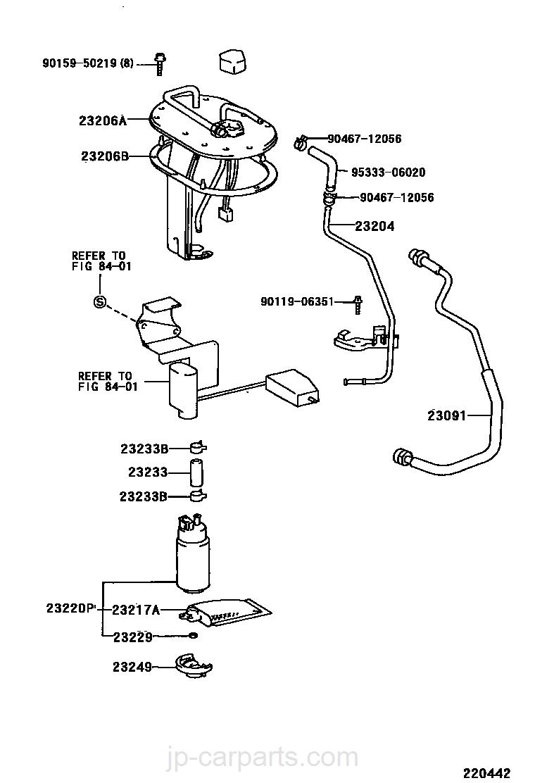 Toyota vista sv40 manual