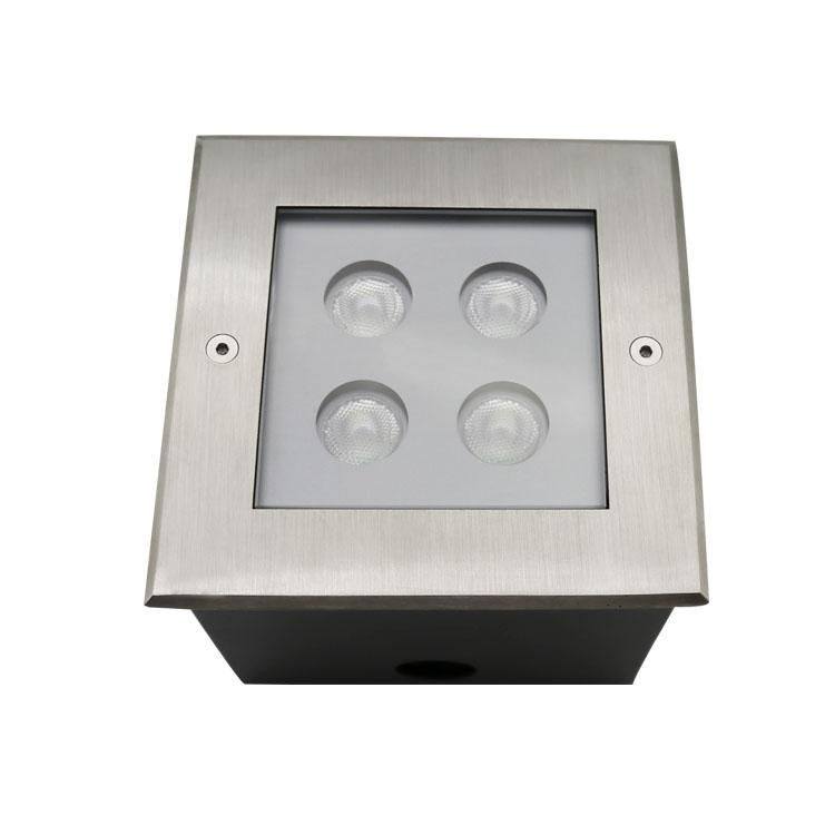 square recessed led inground light 4w
