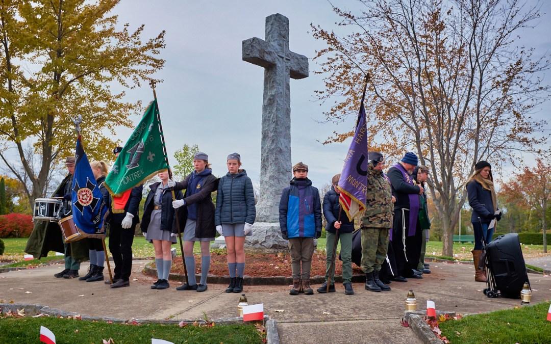 Wyjście na cmentarz wojskowy
