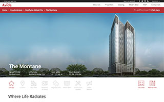Avida Land Corporate Website