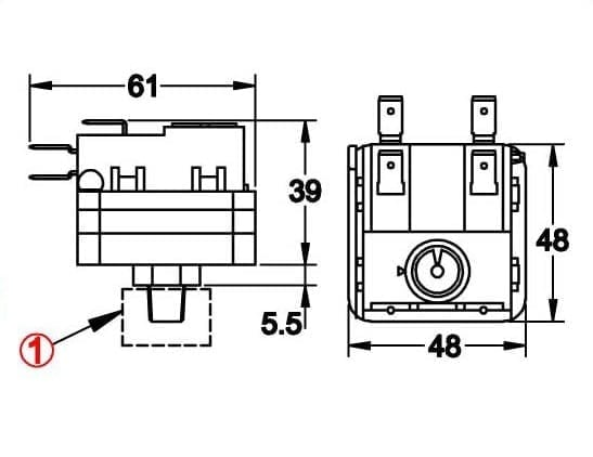 Snap action contact pressure switch, field adjustable DPDT