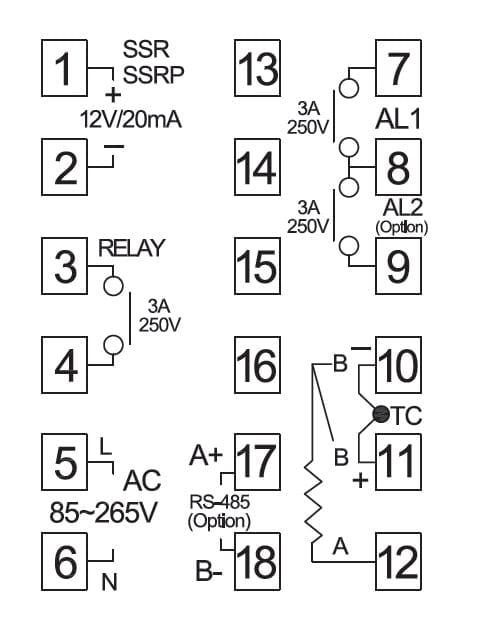 48 x 48, Intelligent PID Temperature Controller, double