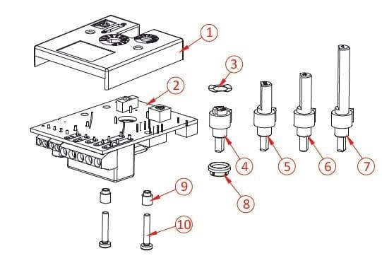Thermostat électronique pour intégration, Multi-plages