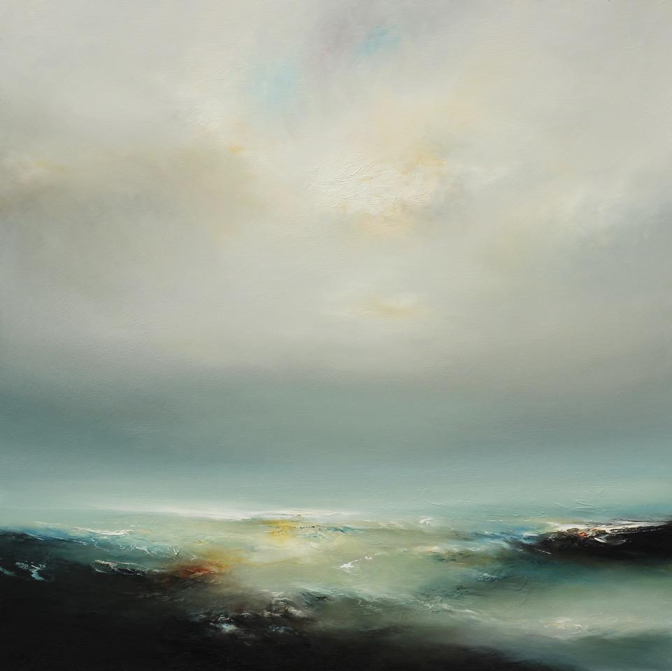 Swirling Tide Oil on Board 97 x 97 cm Framed