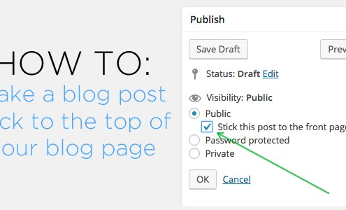 How to-Sticky Post Button