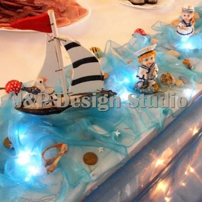 Декорация за кръщене на морска тема