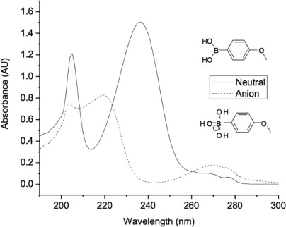 Interaction of Model Aryl- and Alkyl-Boronic Acids and 1,2