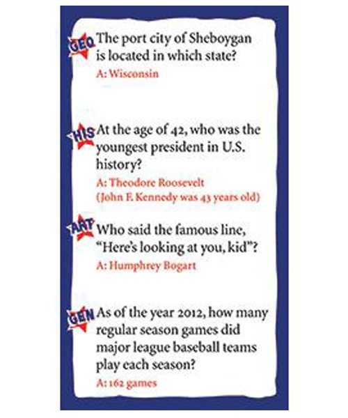 American Trivia Game - Family Edition Playing Card