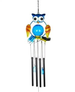 Owl Wind Chime With Solar LED Light