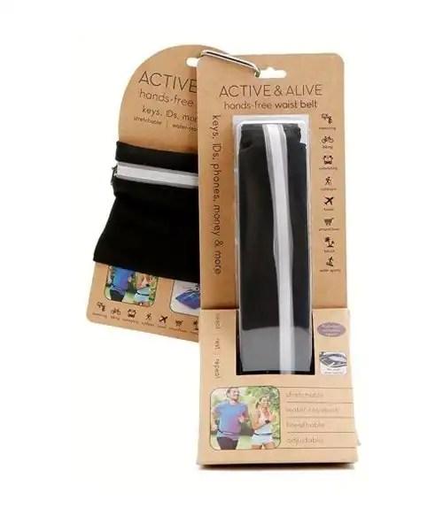 Active & Alive - Hands Free Wrist Wallet and Belt Set