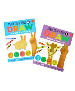 Trace Your Hands And Draw Set - Wild Animals and Farm Animals