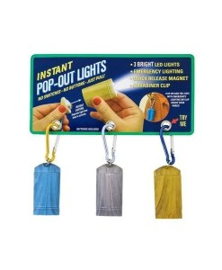 3-LED Flashlight Magnetic Pop Light (3 Pack)