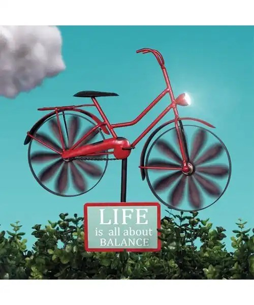 Bicycle Wind Spinner with Solar Light Color