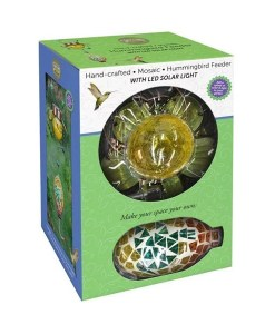 Mosaic Solar Hummingbird Feeder Boxed
