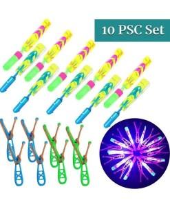 Set of 10 LED Slingshot Rockets - Cover