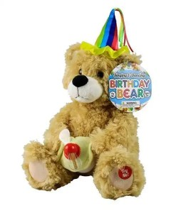 Singing Plush Birthday Bear - Side