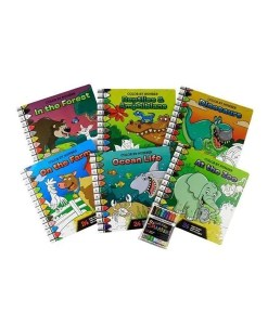 Color By Number 6 Book Set