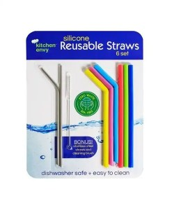 Silicone Reusable Straw Set - From Kitchen Envy