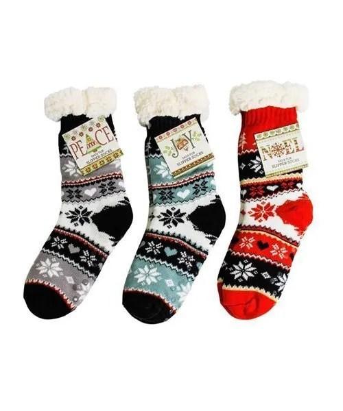 Thermal Knit Slipper Socks - 3 Pack