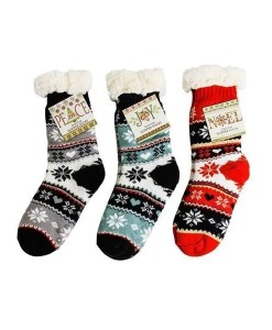 Thermal Knit Slipper Socks - 3 Pack