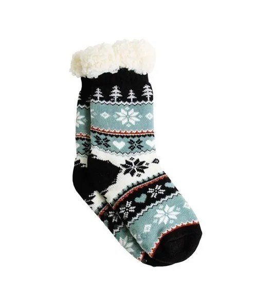 Thermal Knit Slipper Socks - Peace