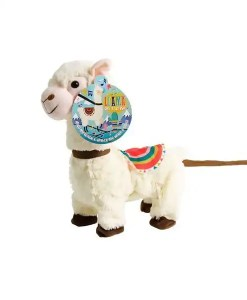 Singing Plush Llama on a Leash - Cuddly Crooners