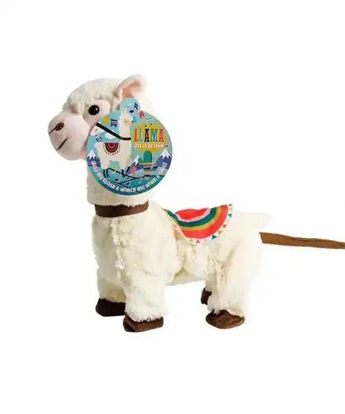 Singing Plush Llama on a Leash