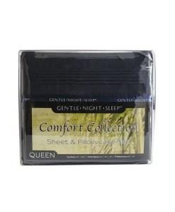 Deep Blue - Microfiber Sheets Queen - Front
