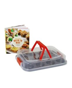 Deluxe Muffin Tin Meals Cookbook & Muffin Pan 2 Set