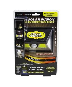 Solar Fusion Outdoor COB Light - Motion Activated - Cover