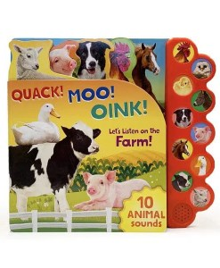 Quack! Moo! Oink! Let's Listen on the Farm! = Cover