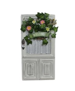 Welcome Door Decor - With Lighted Wreath Lights - Unboxed