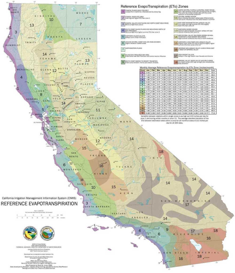 medium resolution of california evapotranspiration zones map download jpg